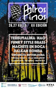 Cartel completo festival Antros Pinos 2019