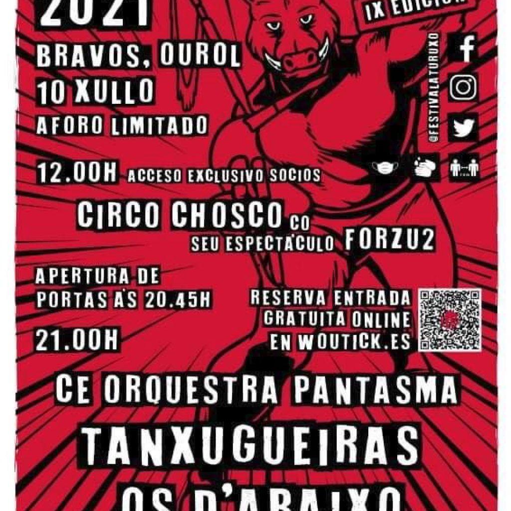 cartel completo Festival Aturuxo 2021