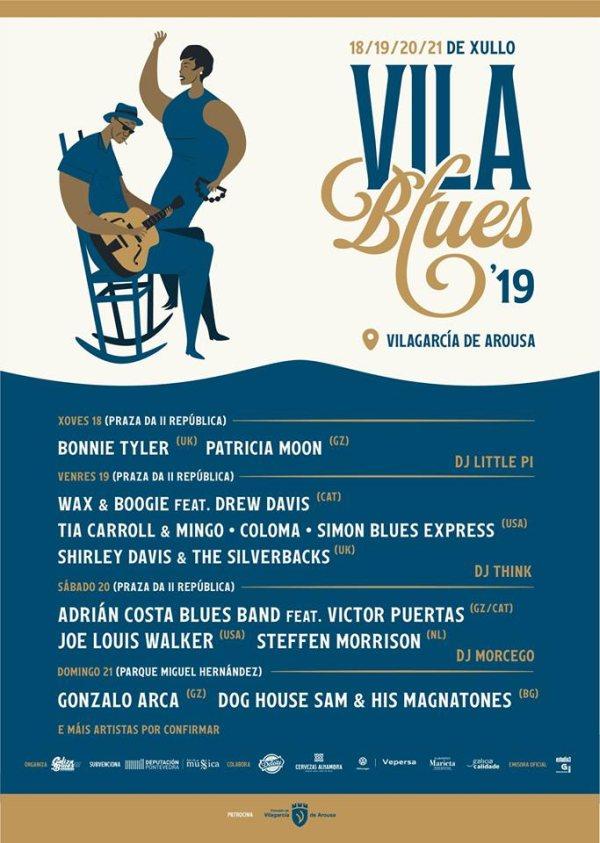 Cartel completo por días Vila Blues 2019