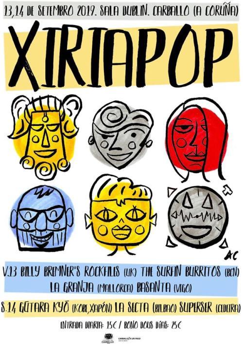 Cartel completo Xiria Pop 2019