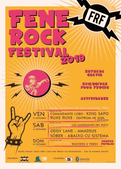 Cartel completo Fene Rock 2019 por días