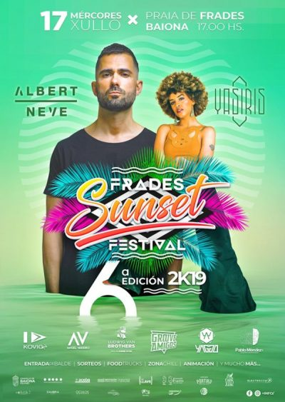 Cartel completo Frades Sunset Festival 2019