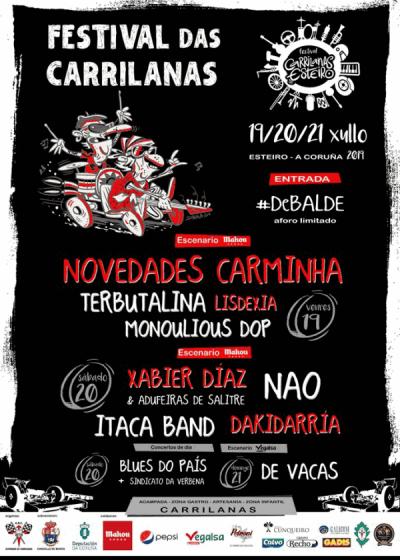 Cartel completo Festival das Carrilanas 2019 por días