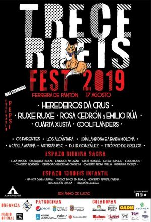 cartel completo trece roeis-fest 2019