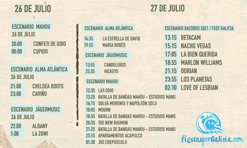 Horarios por días Atlantic Fest 2019