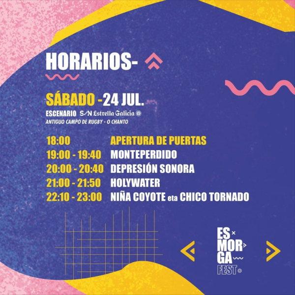 Horarios Esmorga Fest 2021 Sarria