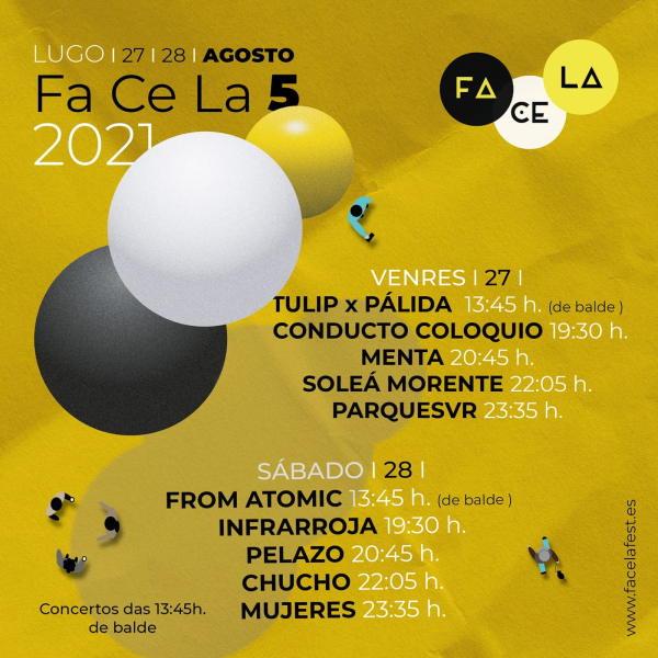 Horarios Facela Fest 2021