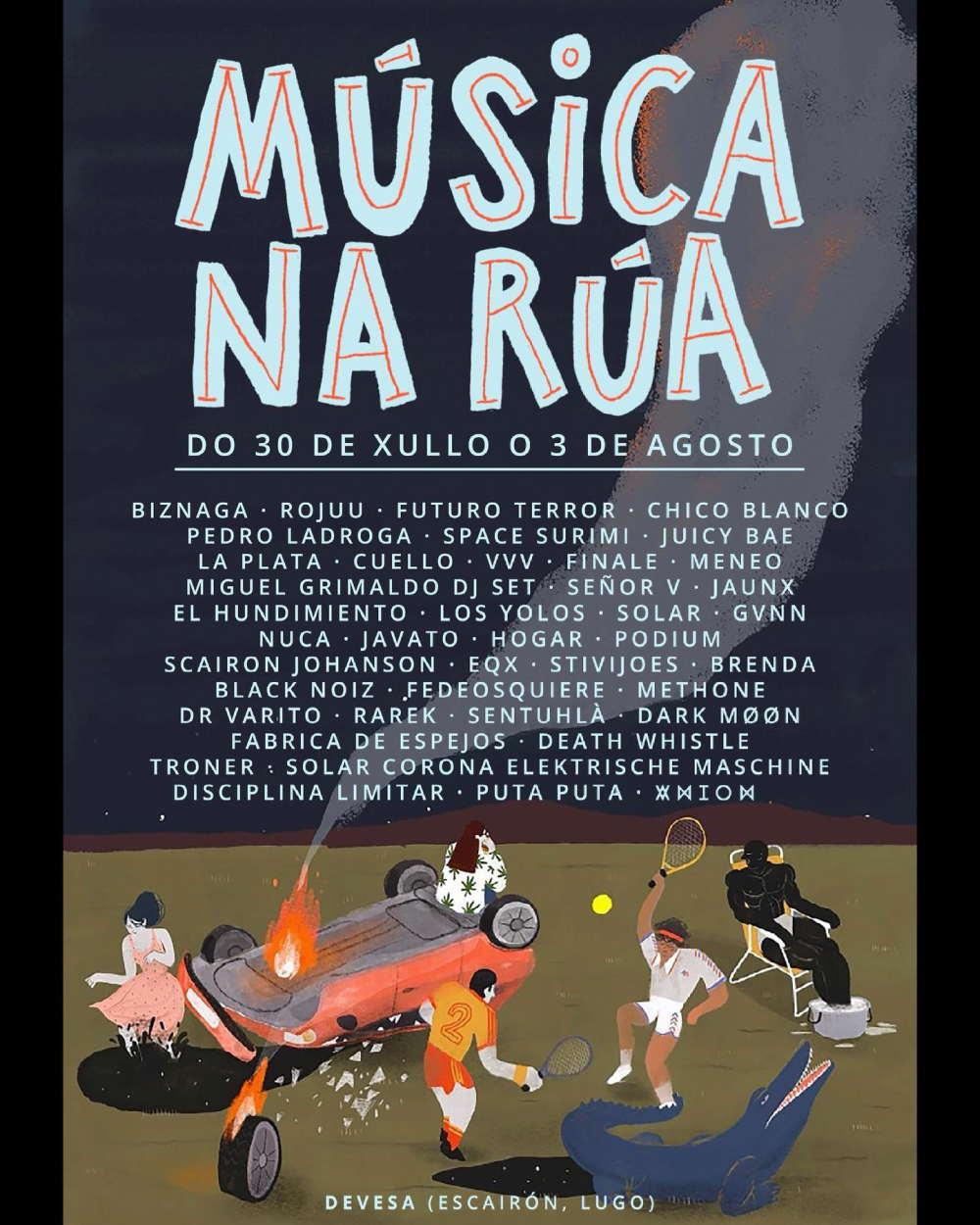 cartel completo música na rúa 2021