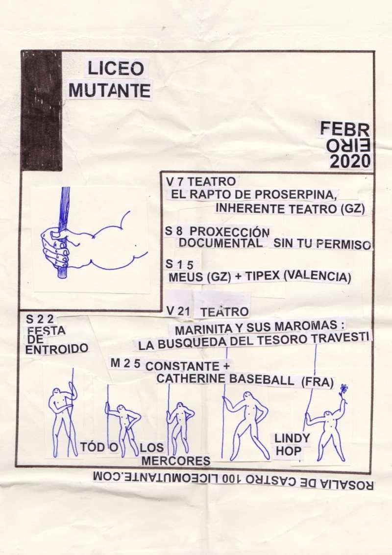 Programación febrero 2020 Liceo Mutante